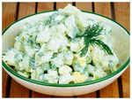 Aloo Chickpea Salad
