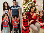Karanvir Bohra and Teejay Sidhu with their girls