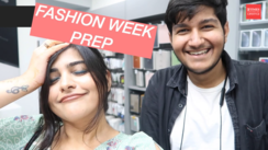 Getting ready for the Fashion Week