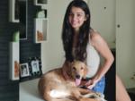 Mahima got a new dog who she has named Parinda