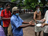 Free food distributed to the poor amid pandemic