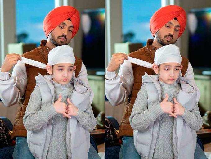 Honsla Rakh: Diljit Dosanjh shares the most adorable picture with Shinda Grewal