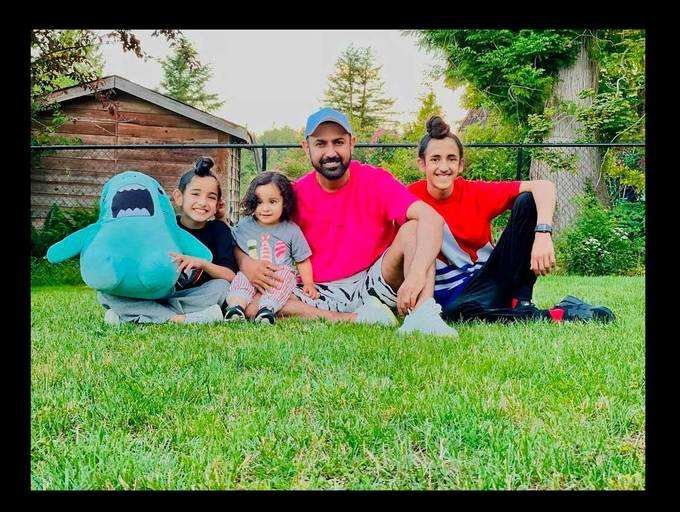 Gippy Grewal's picture with his three sons is the cutest thing you will see on the internet today