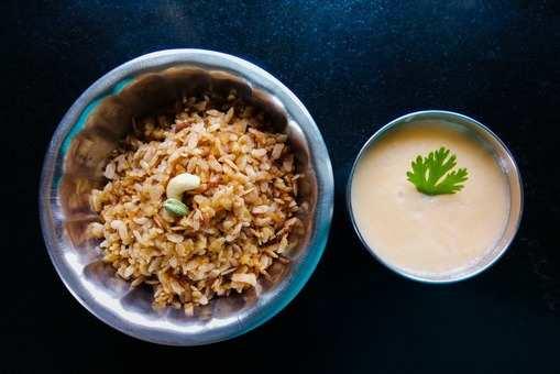 Coconut Jaggery Poha