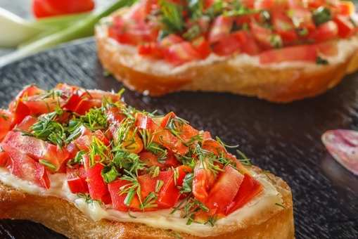 Garlic Tomato Bruschetta