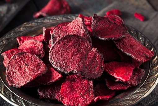 Baked Beetrot Chips