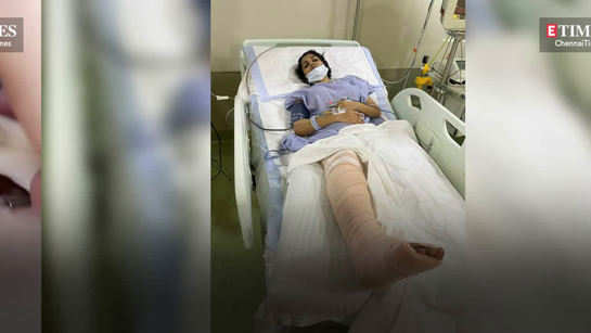 Yashika Anand's first video from hospital revealing her stitches