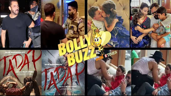 Bolly Buzz: CISF officer in trouble after stopping Salman Khan; 'Tadap' release date; Ranveer-Deepika's viral video