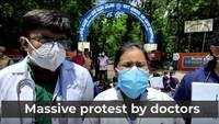 Hyderabad: Doctors protest outside Chest hospital, Erragadda after assault by Covid-19 patient's kin