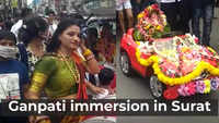 Children in Surat take out immersion procession of Ganpati Bappa in remote controlled cars
