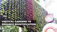 Watch: Vertical gardens installation work continues outside Visakhapatnam railway station