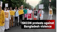 Bangladesh violence: ISKCON temple Kharghar conducts protest march in Navi Mumbai to demand justice and protection