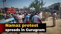 Namaz protest spreads in Gurugram, protesters argue with cops
