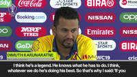 Malinga is a legend, says Lankan captain Karunaratne