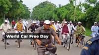Chandigarh: Haryana CM ML Khattar rides bicycle to celebrate World Car Free Day
