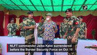 NLFT commander surrenders to BSF in Tripura