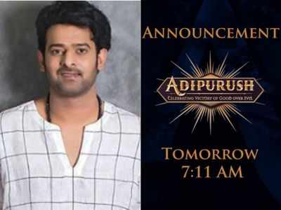 Adipurush: Prabhas, Om Raut reveal formal announcement related to the film to be made tomorrow