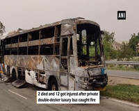 2 dead, 12 injured in Kurukshetra after private bus gutted in fire