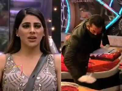 Salman Khan enters Bigg Boss house to clean Rakhi Sawant's bed after Nikki Tamboli refuses to do so, says 'No work is small'