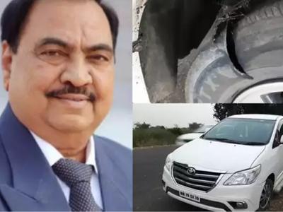 Eknath Khadse's car meets with an accident, NCP leader escapes unhurt