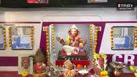 Mumbaikar Rahul Varia's Lord Ganesha idol is inspired by Ghatkopar station