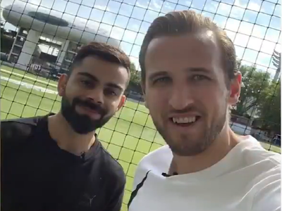 World Cup 2019: Virat Kohli, Harry Kane play cricket at Lord's