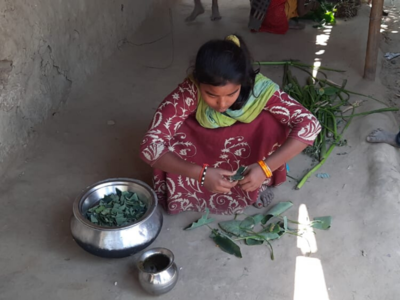 West Bengal: People in Malda feed on boiled Yam leaves for survival