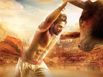 Varun looks fierce as he fights a bull in this new poster
