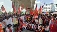 Nagpur: Political parties protest after a portion of under-construction flyover collapses