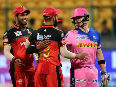 Match between Rajasthan Royals and Royal Challengers Bangalore abandoned