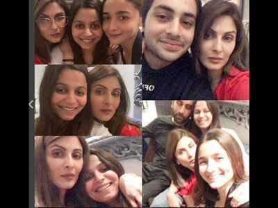 In Photos: Alia Bhatt, Ranbir Kapoor spend family time with Neetu Singh, Soni Razdan and others