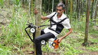 Watch: Mangaluru farmer develops ingenious 'bike' to climb areca nut tree