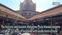 The historic Mahatma Phule Mandai reopens after 72 days of lockdown with some restrictions