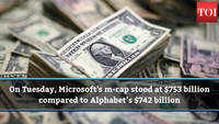 When Microsoft surpassed Google's parent in market valuation