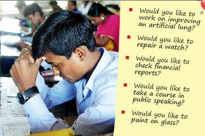 State govt plans to put students on the right course with THESE questions