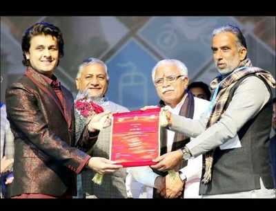 Sonu Nigam honored with Haryana Gaurav Samman by Haryana government