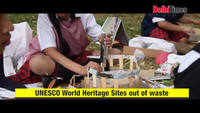 Delhi students create wonders out of waste as they celebrate World Heritage Day