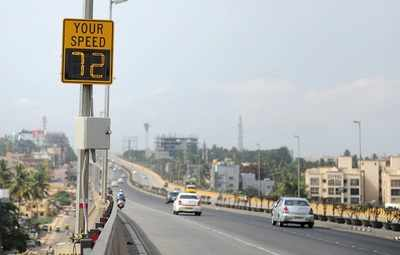 Bengaluru: Radar Speed Signboards will tell you how fast you're going