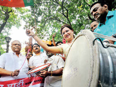 BJP's early celebrations go wrong
