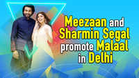 Meezaan and Sharmin Segal promote 'Malaal' in Delhi