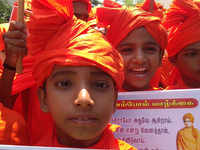 Chennai: Students celebrate the 125th anniversary of Swami Vivekananda's Chicago address