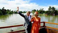 Dutch King and Queen enjoy backwaters in Kerala's Alappuzha