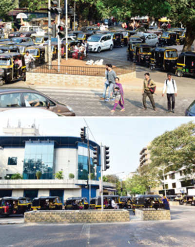 Money-spinning traffic islands leave hardly any space for pedestrians
