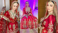 Sana Khan shares unseen pictures from the walima ceremony