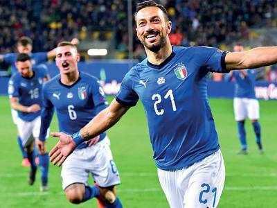 Quagliarella makes Italy history after stalker nightmare