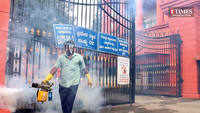 BBMP workers sanitise and fumigate areas in Bengaluru