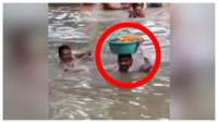 Vadodara rains: When a cop played Vasudev to an infant