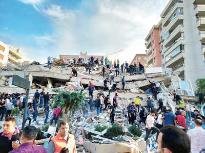 4 killed in Turkey as strong quake strikes Aegean Sea