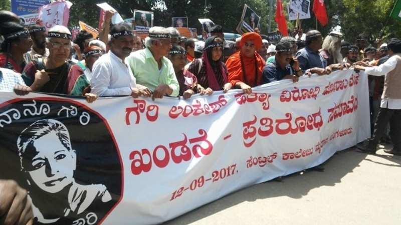 Citizens protest against Gauri Lankesh killing