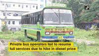 Hike in diesel prices perturbs private bus operators in Shivamogga